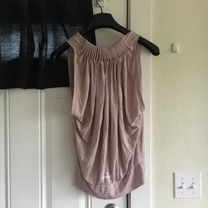 Stella McCartney Adidas mauve Ruched back tank 36